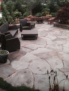Flagstone Patio Steps Walks 45 Ideas For 2019 Bluestone Patio, Gravel Patio, Concrete Patio, Flagstone, Pea Gravel, Backyard Patio Designs, Backyard Landscaping, Porches, Nantucket