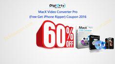 60% MacX Video Converter Pro (Free Get iPhone Ripper) coupon http://tickcoupon.com/stores/macx-dvd-coupon-code