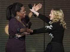 Nice moment with Oprah and Madonna :)