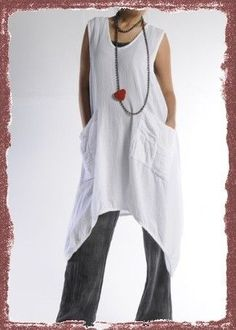 Oh My Gauze Cotton Brad Lagenlook Long Vest U chz Color