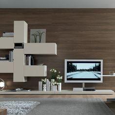 TV Unit Shelving Cream - Jesse - Fci Contemporary & Modern Furniture