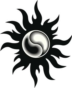 54 ideas tattoo moon sun yin yang beautiful for 2019 Ying Yang, Arte Yin Yang, Yin Yang Art, Yin Yang Tattoos, Tatuajes Yin Yang, Girl Neck Tattoos, Sun Tattoos, Body Art Tattoos, Tattoos For Guys