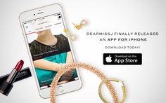 Download DearMissJ app now and enjoy 30% off  iOS app: DearMissJ Promotion code: CyberDMJ