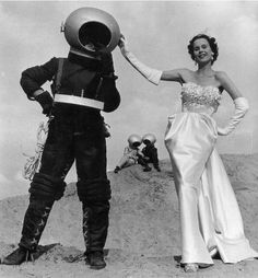 Brides in Space. ( Space Man / Outer Space / Vintage Fashion )