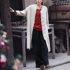 "Long Loose Linen and Cotton Jacket //Price: $42.79 & FREE Shipping //    Long Loose Linen and Cotton Jacket One size, one natural linen colour, one beautiful long, flowy duster jacket!   	Linen: 80-90%  	Cotton: 10-20%  	Length: 96 cm / 34.5""  	Bust: 120 cm / 47""  	Sleeves: 65 cm  / 25.5""  	Side slit pocket                         Get it here ---> https://coveralls.store/product/long-loose-linen-and-cotton-jacket/    #LongSlips"