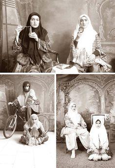 Shadi Ghadirian Old Photos, Vintage Photos, Black White Photos, Black And White, Iranian Beauty, Middle Eastern Art, Weird And Wonderful, Muslim Women, Funny Art