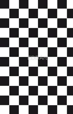 Racing Chess Squares Pattern - black