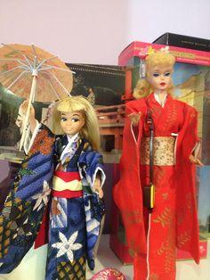 Barbie in Japan with OOAK Japanese skipper