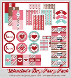 It's Written on the Wall: {Freebie} Gotta see this Huge Valentine's Day Party Pack Printables Valentines Decoration, Valentines Day Treats, Valentine Day Love, Valentine Day Crafts, Valentine Activities, Valentine Hearts, Grown Up Parties, Staff Gifts, Valentine's Day Printables
