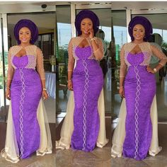 Online Hub For Fashion Beauty And Health: Fabulous Lace Asoebi Gown For Plus Size Women