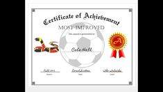 How To Easily Make A Certificate Of Achievement Award With Ms Word regarding Soccer Certificate Templates For Word