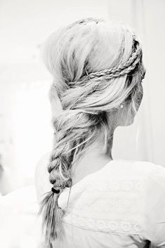 Back braid with small braids pinned into it