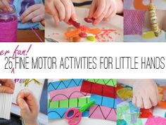 Fine motor skill activities for little hands #parenting #play