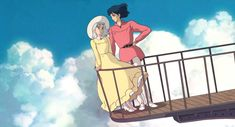 Screencap Gallery for Howl's Moving Castle Bluray, Studio Ghibli). A love story between an girl named Sofî, cursed by a witch into an old woman's body, and a magician named Hauru. Under the curse, Sofî sets Ghibli Tattoo, Studio Ghibli Art, Studio Ghibli Movies, Howl's Moving Castle Tattoo, Howls Moving Castle Wallpaper, Howl And Sophie, Anime Screenshots, Hayao Miyazaki, Cute Wallpapers