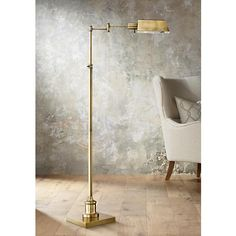 Add a classic pharmacy lamp in aged brass to bring a touch of retro refinement to your space.