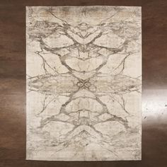 Global Views Mirror Match Marble Screen Printed Bamboo Silk Rug - Available in 4 Sizes from The Well Appointed House White Area Rug, Beige Area Rugs, Rectangle Area, Dash And Albert, Screen Printing, Marble, Prints, Design