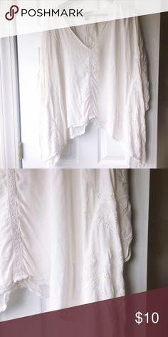 White flowy shirt Work once Tops Blouses