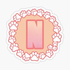 LETTER N PAW Stickers | Redbubble