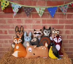 Seriously cute handmade stuffed woodland critters on Etsy's Savage Seeds. (There's a sloth!)