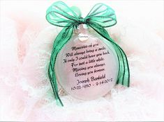 In Memory of Parents Memorial Christmas Ornament - Feather from an Angel - Mom & Dad in Heaven - Loss of Parents Sympathy GIft - Bereavement Memorial Ornaments, Memorial Gifts, Memorial Ideas, Glitter Ornaments, Glass Ornaments, Ornaments Ideas, Christmas Crafts, Christmas Ornaments, Christmas Tree
