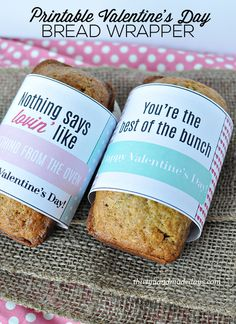 Last Minute Gift Idea: Printable Bread Wrappers