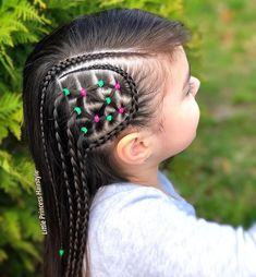 New braids hairstyles cornrows little girls Ideas Girls Natural Hairstyles, Braided Ponytail Hairstyles, Scarf Hairstyles, Natural Hair Styles, Hair Rubber Bands, Cute Little Girl Hairstyles, Kylie Hair, Braids With Beads, Creative Hairstyles