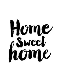 Home Sweet Home Wall Decor wall art poster by MottosPrint on Etsy