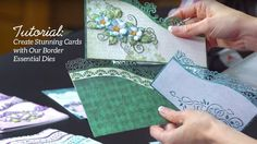 Quick Tips and Techniques with Border Essential Dies to Create Stunning Cards. #heartfeltcreations #tutorial