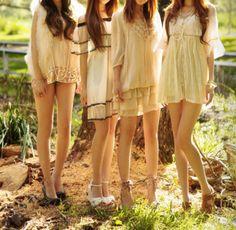 pretty girls, pretty clothes
