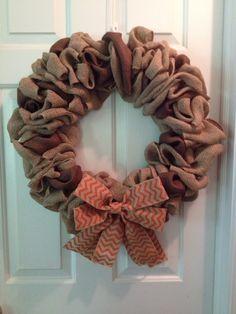 Fall burlap wreath by Oh Em Wreaths Follow on Facebook 4e410c320c9b