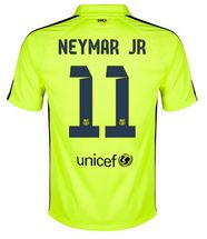 14-15 Football Shirt Barcelona Neymar Jr #11 Away Third Green Replica Jersey [138]