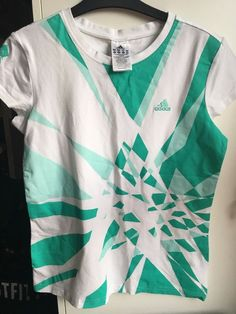 f3296328 Adidas ladies London 2012 green white Olympic tee shirt top T-shirt size 14  Fitness