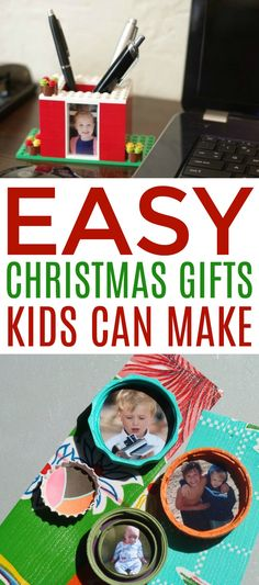Kids LOVE to make gifts for their loved ones! Weve rounded up a bunch of Easy Christmas Gifts Kids Can Make that will give you a jump start on the holiday gift-making season. Christmas Decorations Diy For Kids, Easy Christmas Crafts, Christmas Gifts For Kids, Simple Christmas, Christmas Ideas, Diy Projects For Teens, Diy For Teens, Crafts For Teens, Craft Projects
