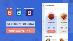 In this UI Design tutorial you will learn to design Food Delivery App using HTML, CSS & Bootstrap. Ui Design Tutorial, Design Tutorials, App Ui Design, Food Design, Card Ui, Tracking App, Delivery App, Html Css, Travel Cards