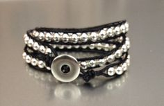 Ladder Bracelet Leather Bracelet Women's Bracelet by PBandJLane, $24.89