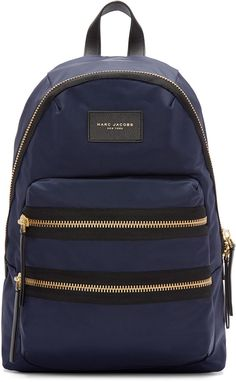 e843e670b37d Marc Jacobs Navy Nylon Biker Backpack Rucksack Bag
