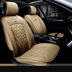Luxury Full Seat PU Leather Car Seat Cover Cushion Pad 3D Surround Breathable