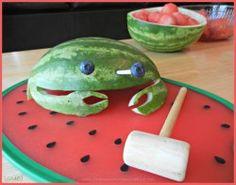 Maryland Crab Watermelon Carving