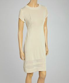 Another great find on #zulily! Stone Sheer Sheath Dress #zulilyfinds
