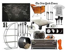 """Lofty New York"" by ajgoldwyn ❤ liked on Polyvore featuring interior, interiors, interior design, home, home decor, interior decorating, Källemo, Tom Dixon, Mono and CB2"