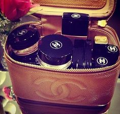 This used to be my standard Christmas gift.  Everyone knew I loved Chanel.  Chanel Makeup Bag