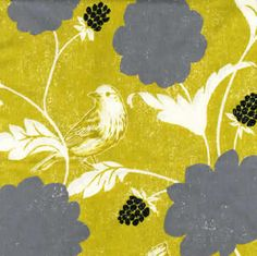 Echino Decoro Dahlia in Gold -  Linen Cotton Blend - Half Yard