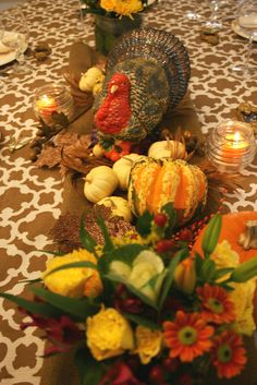 Autumn colors on the Thanksgiving table