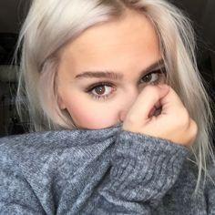 Braunen zu augen blond welches Welche Haarfarbe