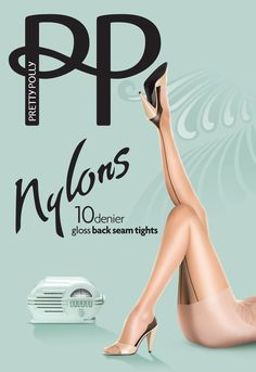 Vinage naad panty's van Pretty Polly Nylons.