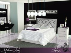 Modern Look Bedroom by Lulu265 - Sims 3 Downloads CC Caboodle