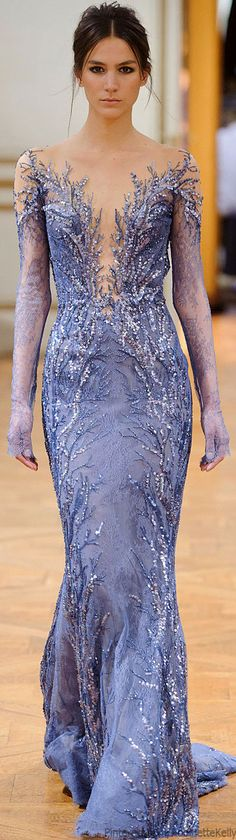 Zuhair Murad Haute Couture | F/W 2013  --  minus the lace sleeves, I could see this for competition