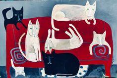 The Official Rose Walton Folk Art Print Store by RoseWalton Small Kittens, Primitive Folk Art, Naive Art, Blessed Mother, Print Store, Etsy Seller, Original Paintings, Merry, Kitty