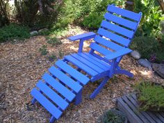 Ive handcrafted this cedar high back lounge chair and ottoman set to provide a…
