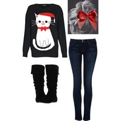 """christmas kitty"" by missbri2000 on Polyvore"